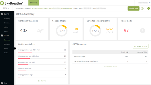 SkyBreathe® Emissions module homepage