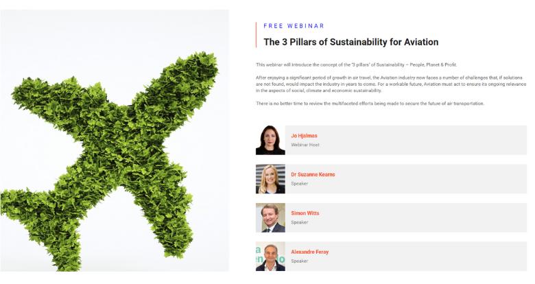 Webinar The 3 Pillars of Sustainability for Aviation