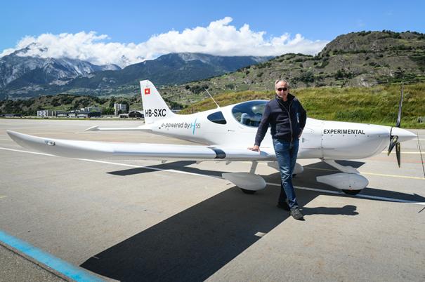 André Borschberg - H55 Flight Trainer © H55/ Anna Pizzolante -